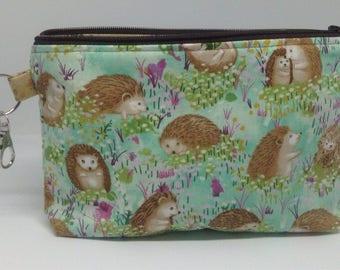 Hedgehogs Zipper Pouch ~ Cosmetics Bag ~ Pencil Pouch ~ Wristlet ~ Essentials Pouch
