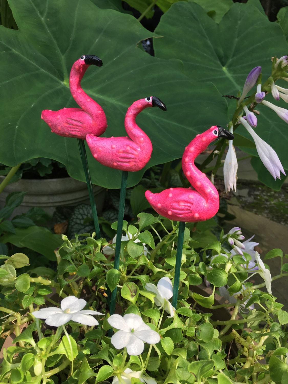 Pink Flamingo Garden StakeYard Art Great GiftLawn