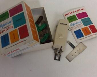Vintage Singer Buttonholer with instructions & 20 cams Original box