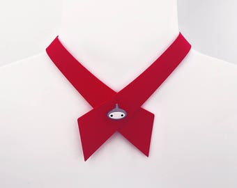 Red Continental Tie