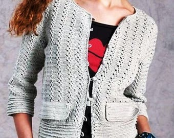 Jacket in gray with a hook / custom
