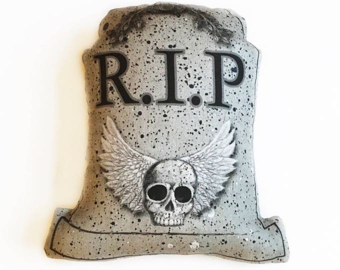 "7"" Tombstone decorative pillow- Halloween decor"