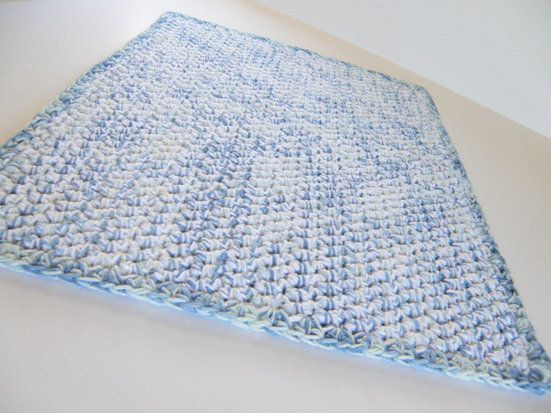 Double Thick Bath Mat in Cotton Handmade Crocheted Bath Rug