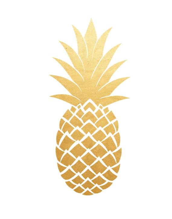 Gold Pineapple Print Printable Art