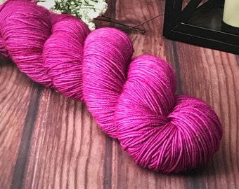 Sock Yarn, Hand Dyed Yarn, Indie Dyed Yarn, Merino Wool Yarn - Bloom on Simple Sock