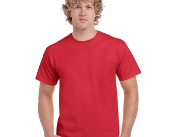 Men's 5XL Short Sleeve T-shirt - Custom Colors for Any Design in Our Shop - Adult Tee