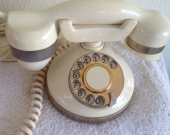 Vintage Rotary DIAL telephone Telcer(ITALY)