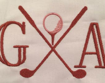 Golf Club Embroidery Pattern