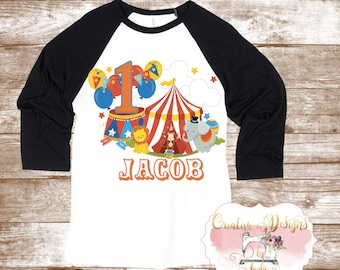 Circus/ Carnival Birthday Shirt, Custom Shirt