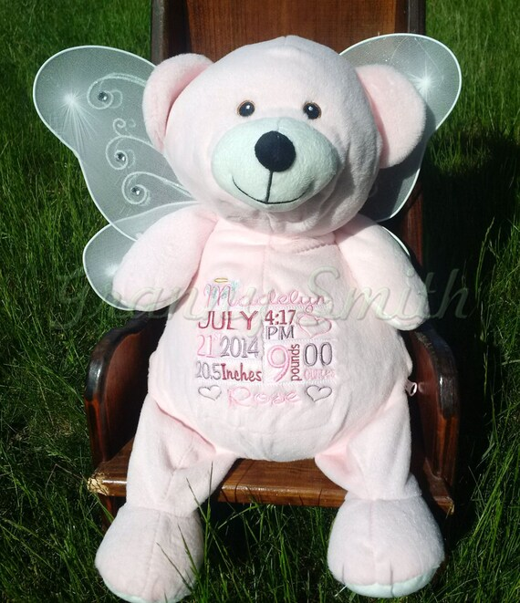 Customized memorial animal.  Personalized tummy embroidery designs. This is a nice way to remember that special little someone.
