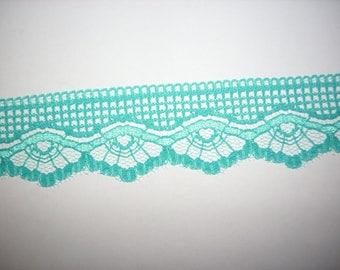 Lace ribbon 2m, Turquoise (420)