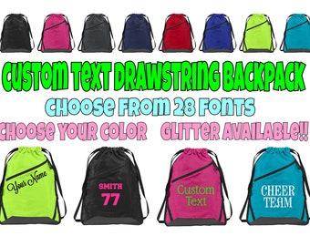 Custom Cinch Bag, Team Bag, Personalized Bag, Sports Bag, Personalized Cinch Bag, Custom Drawstring Backpack