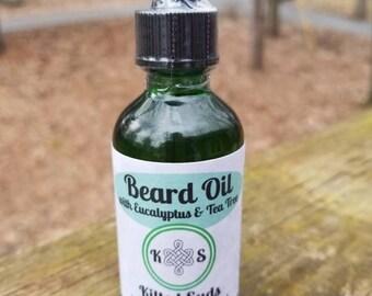 Eucalyptus Tea Tree Beard Oil - Beard Conditioner - Beard Care - Gift for Him - Gift for Dad - Beard Grooming