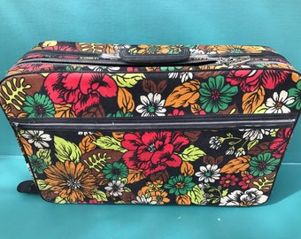 Vintage Floral Suitcase Free Shipping