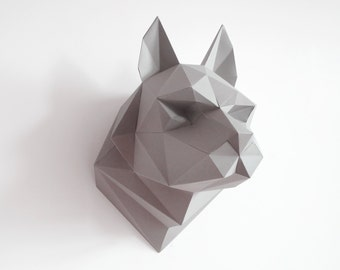 diy wall decor paper. Wolf Sculpture  DIY Wall Art Paper Trophy Low Poly Instant Diy Wall Art Etsy