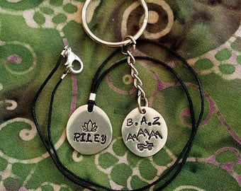 Custom NAME hand-stamped pendant with your own unique design