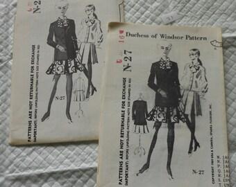 Vintage 70's Spadea new, UNCUT, UNPRINTED Duchess of Windsor Pattern N-27