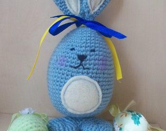 Knitted Fun Easter Bunny, Easter Egg Bunny, Gift Fun , Fun Rabbit