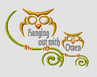 Owl Branch Embroidery Designs