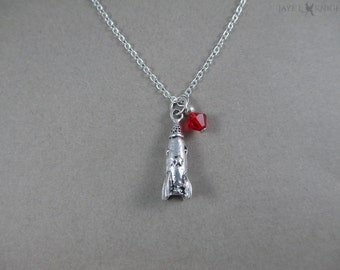 Fallout Rocket Charm Necklace - Silver Charm