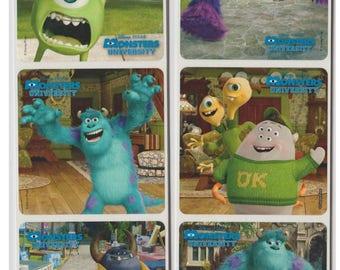 "25 Monsters University Stickers, 2.5"" x 2.5"""