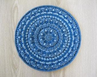 The Tulip Mandala Crochet Pattern - Crocheted Mandala - Crochet Applique - Crochet Round Motif - PDF Crochet Pattern