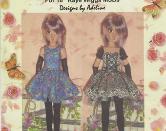 "fits 18"" Kaye Wiggs BJD Dress,Gloves,Arm-warmers Thigh-high socks sleeves sewing pattern"