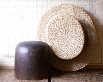 Vintage Wood Hat Block - Dark Wood Hat Form - Wig Form - Millinery Tool