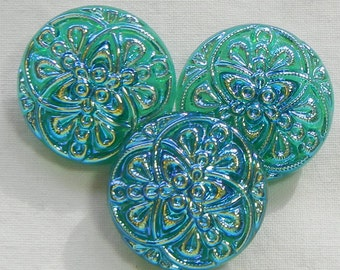 Celtic Rings Czech Glass Button (3)