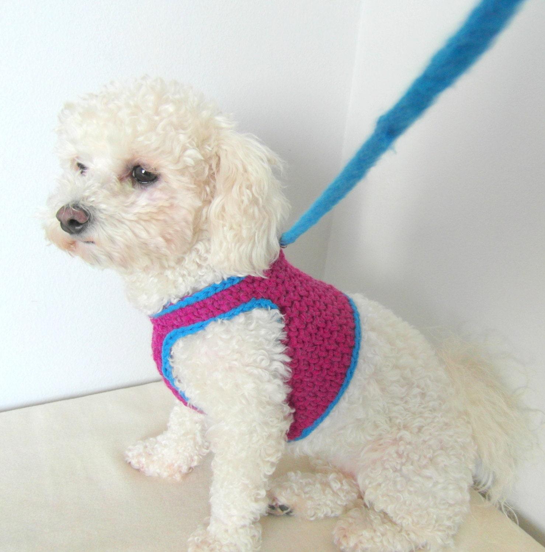 Crochet dog harness dog harness vest matching leash pets zoom bankloansurffo Images