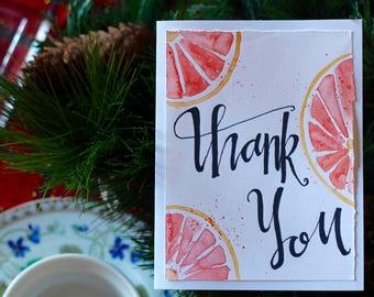 Thank you- Grapefruit Notecards