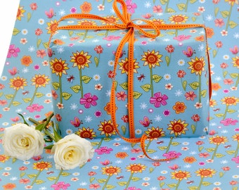 Gift Wrap Single Sheet - Sunflowers Wrapping Paper - Gift Wrapping - Scrapbook Paper - Patterned Paper - Sunflower Pattern