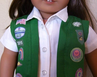 18 Inch Doll Clothes - Junior Girl Scout Vest or Sash