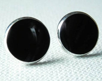 Black Earrings - Black Studs - Black Posts - Black Stud Earrings
