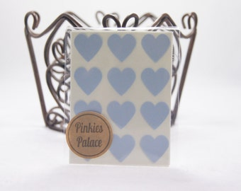 Baby Blue Heart Stickers 3/4 Inch Stickers Envelope Seals Packaging Stickers 36 stickers