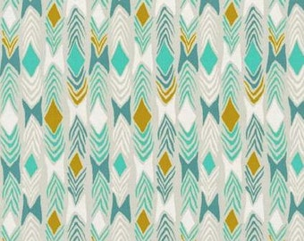 Cotton + Steel - Sarah Watts - August - Diamond Back - Aqua