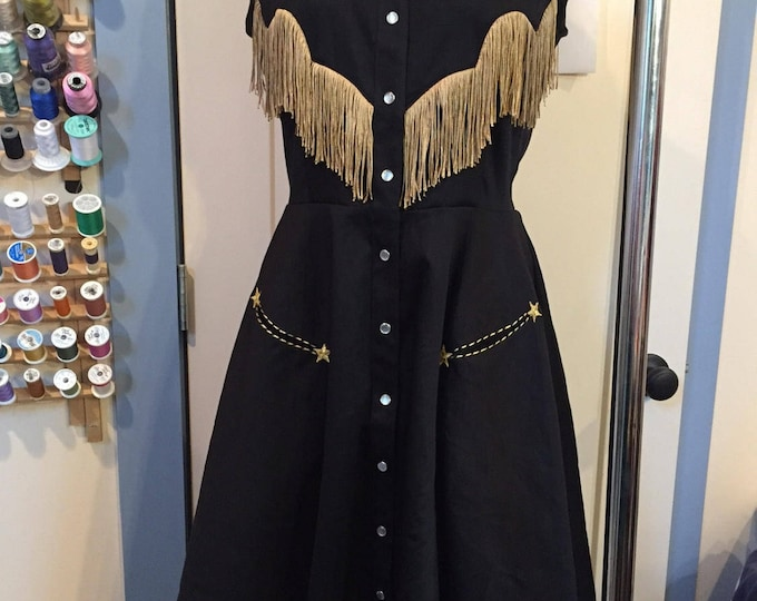 Custom Georgia Western Swing Dress