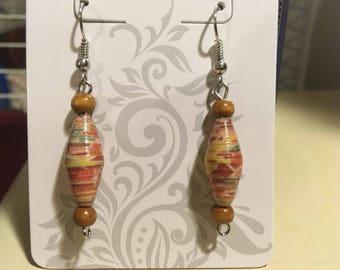 Paper Beaded Earrings