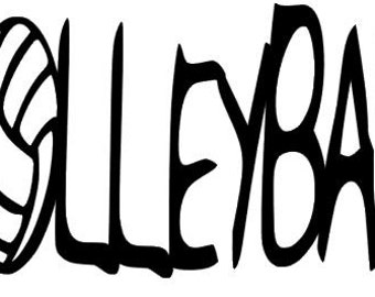 Volleyball Decal- Volleyball Letters