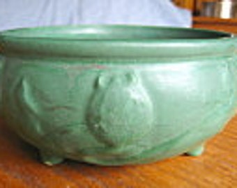 Antique Matte Green Art Pottery