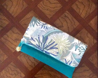 Libertey of London and suede clutch for Spring