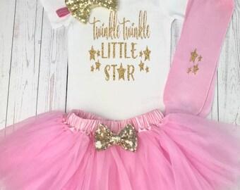 Twinkle Twinkle Little Star First Birthday Outfit, First Birthday Outfit Girl, 1st Birthday Outfit, 1st Birthday Girl, First Birthday Girl