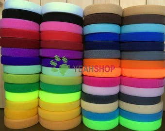 25mm Sew on Hook and Loop Tape - 100% Nylon - 2 Meters - 28 Colors Available