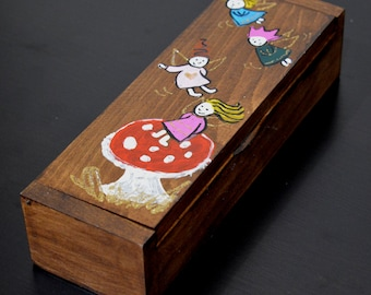 Hand painted Wooden Box Little Fairies