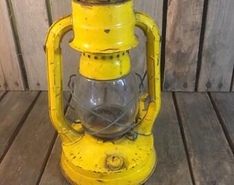 Vintage Yellow Dietz Lantern