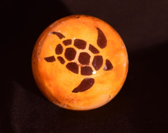 Gold Topaz Sea Turtle