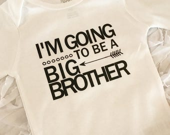 I'm Going To Be A Big Brother! Personalized Banner. Pregnancy announcement. Baby boy bodysuit. Big brother bodysuit. Big brother