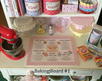 KITCHEN BAKING BOARD - Choose 1:6 or 1/12 Scale Dollhouse Miniature