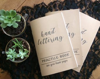 Hand Lettering Practice Books (3) - Dot Grid - Free Shipping!