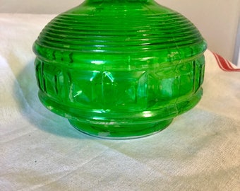 Vintage Green Glass Bottle / Vase